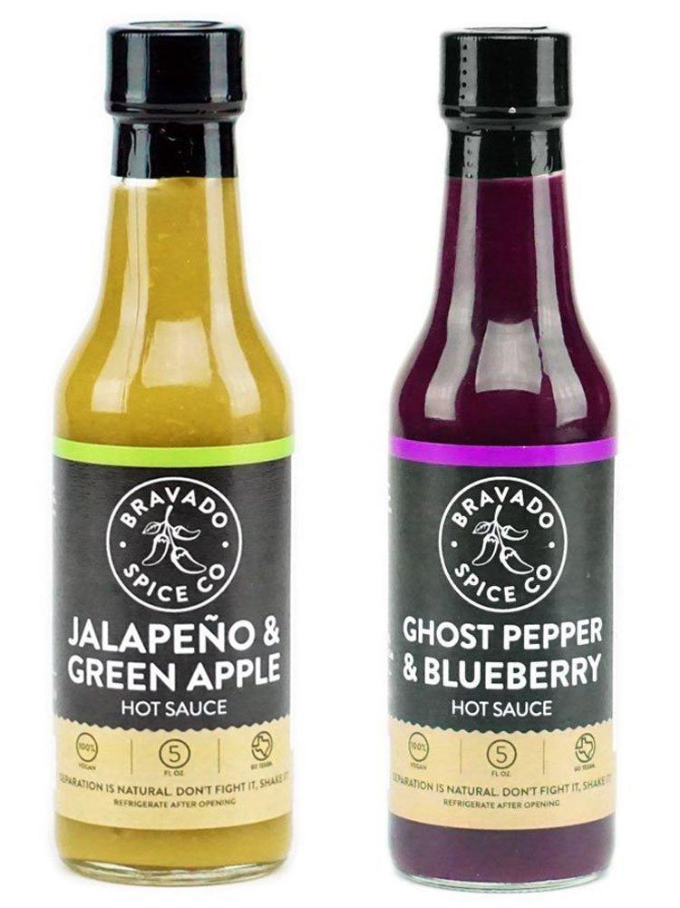 Bravado Spice Co. Hot Sauce 5 oz Bottles Gift Set (GHOST PEPPER + JALAPEÑO)