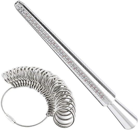 Función Multi Anillo de Aluminio Mandril Sizer apresto del Dedo ...