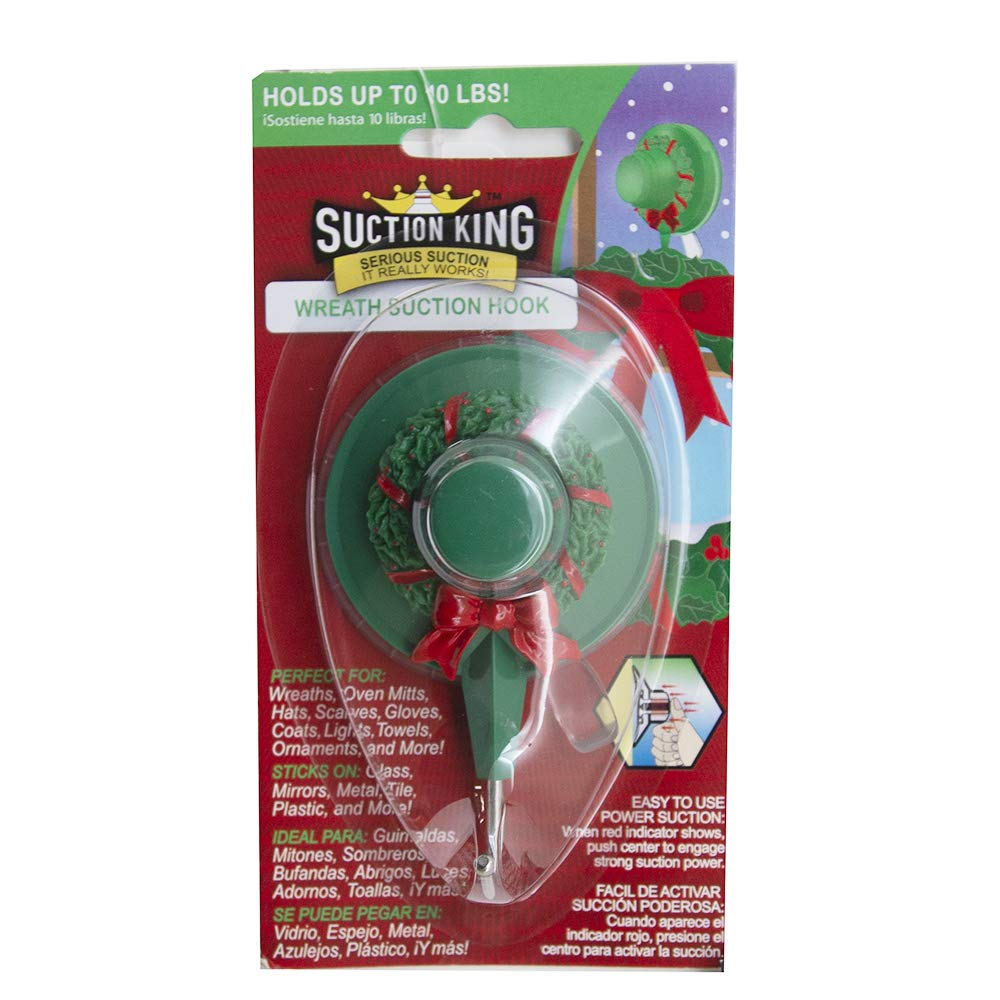 Amazon.com: 12 Pack Suction King Holiday Suction Hook- for Wreaths, Scarfs, and Ornaments: Office Products