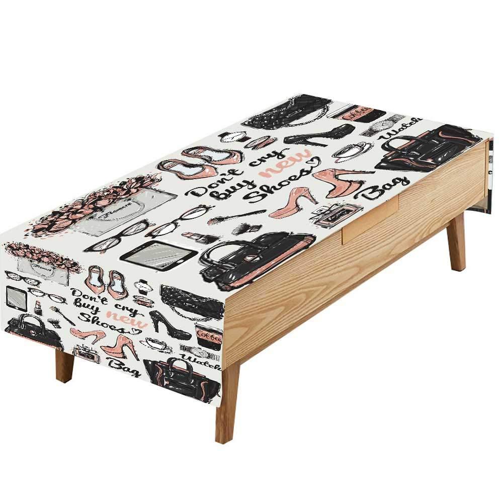 PINAFORE テーブルクロス 防水 ポリエステル テーブル 手描き 祭木 キッチン 装飾 レストラン 装飾 幅50×長さ80インチ W60