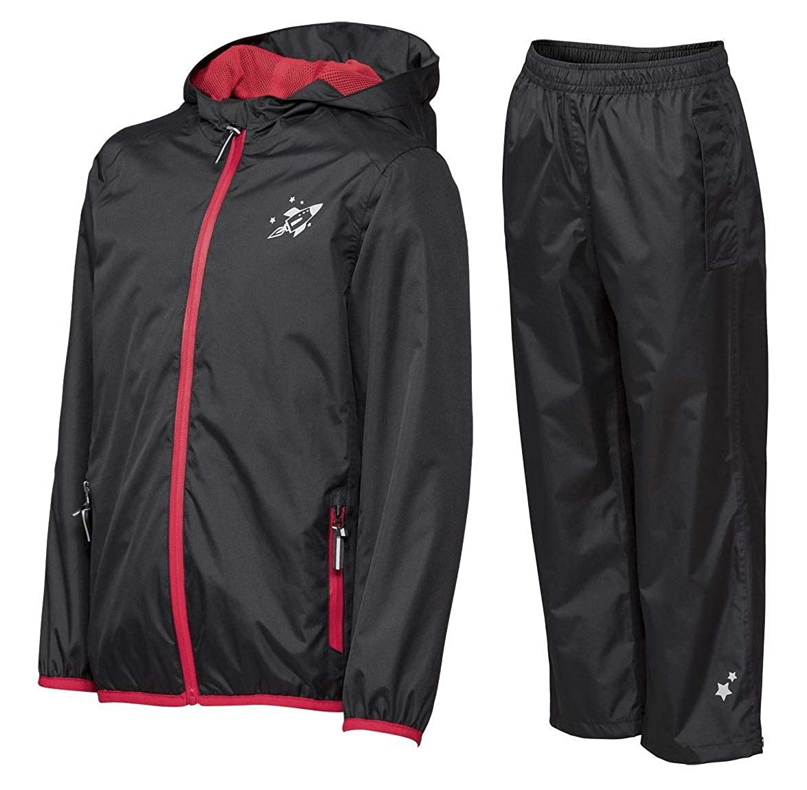 Crivit Jungen Regenanzug 2-teilig Regenjacke Regenhose Regenkombi Matschanzug Windjacke /Überhose