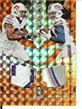 Football NFL 2016 Spectra Synced Swatches Neon Orange #3 LeSean McCoy/Sammy Watkins MEM 1/3 Bills