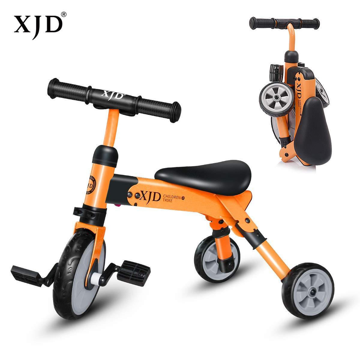 XJD 2 2 B078S6G6PY XJD in 1幼児トライクベビー三輪車ベビーバランスバイクキャリーバッグ軽量折りたたみトライクおもちゃに乗る年齢24歳の男の子女の子(オレンジ) B078S6G6PY, フルーツショップ千馬:4e4f5c4d --- number-directory.top