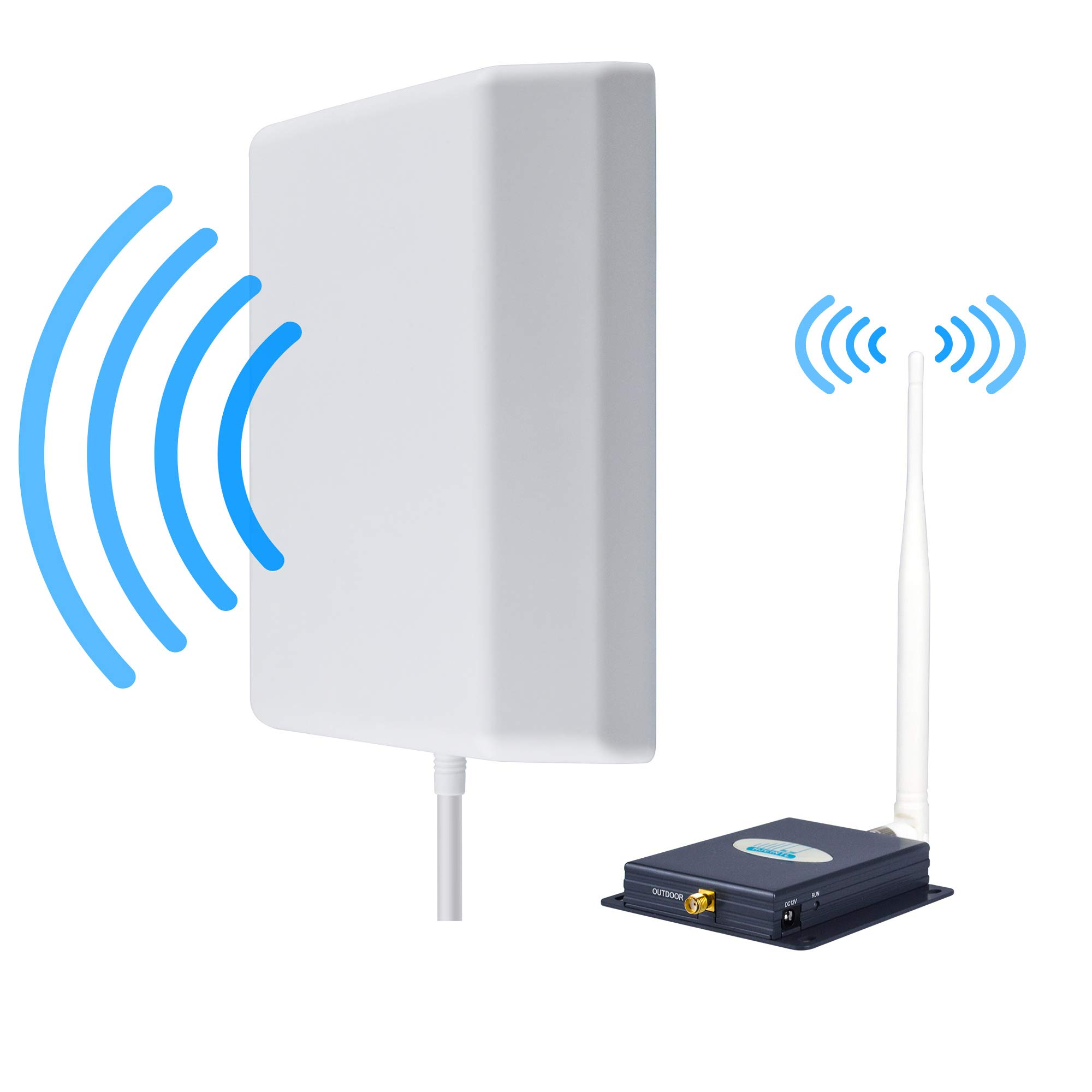 Verizon Cell Phone Signal Booster 4G LTE Cell Booster HJCINTL FDD High Gain 700MHz Band13 4G Home Mobile Phone Signal Repeater Booster Kits (Panel/Whip B)