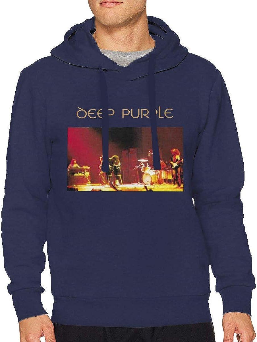 Mens Deep Purple Made in Japan Long Sleeve Hooded Sweat Shirt Pullover