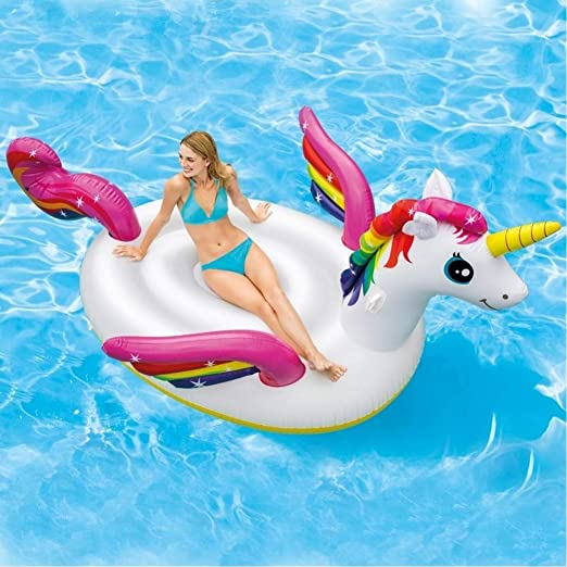 TrAdE shop Traesio Unicornio Hinchable Gigante Isla ...