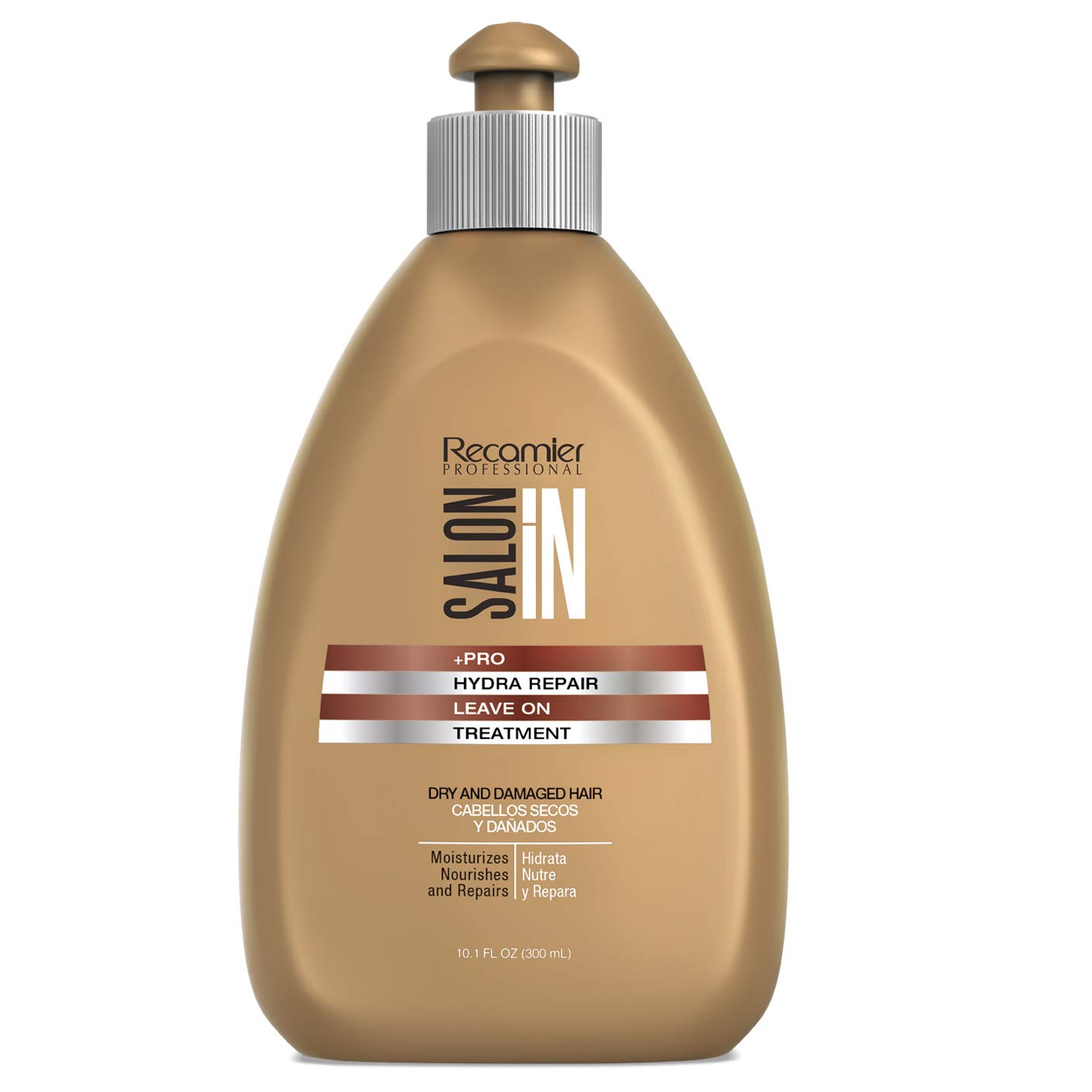 RECAMIER 34066 Leave-In Conditioner Detangler | Dry Damaged Hair Treatment | Comb Cream Styling