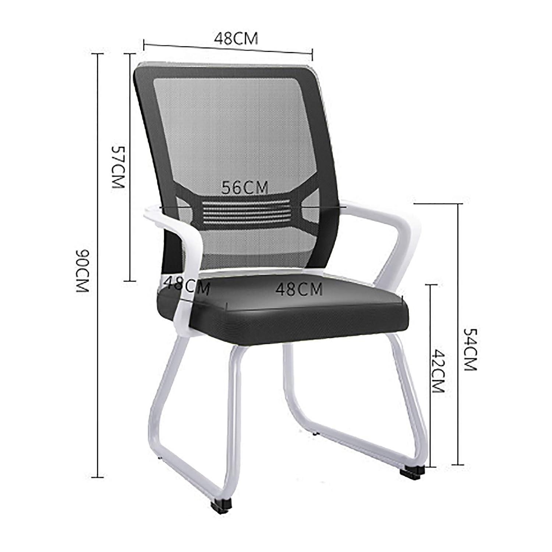Lwjjby kontorsskrivbordsstol, inga hjul, tyg, för hemarbete, kontor, konferensrum, brädrum och mottagningsområden (färg: B) a
