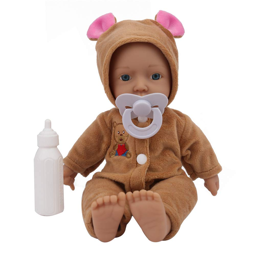 Accbaessy Soft Silicone born Dolls Look Real Newborn Birthday Xmas Gift 10inch Bring the Beste companionship to your family