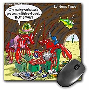 Londons Times Funny Relationships Cartoons - Shellfish Mate - MousePad (mp_1903_1)