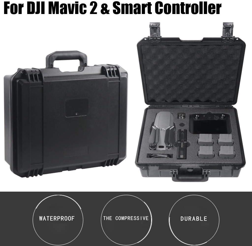 Hard Case Waterproof Carrying Case Hardshell Housing Case Suitcase Storage Bag for DJI Mavic 2 /& Smart Controller WARMSHOP Shipped from USA