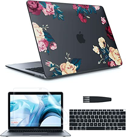 MOSISO MacBook Pro 16 inch Case 2019 Release A2141 with Touch Bar /& Touch ID Pink Peony Plastic Pattern Hard Shell Case /& Keyboard Cover /& Screen Protector Compatible with MacBook Pro 16