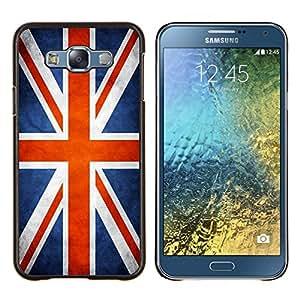 Cubierta protectora del caso de Shell Plástico || Samsung Galaxy E7 E700 || Nación Bandera Nacional País Gran Bretaña Reino Unido @XPTECH