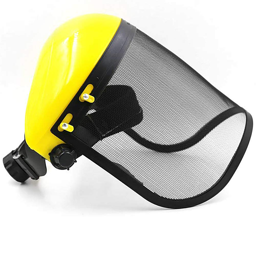 Large Steel Metal Mesh Visor Safety Helmet Hat for Chainsaw Brushcutter Full Face Protector Mask Tong Yue