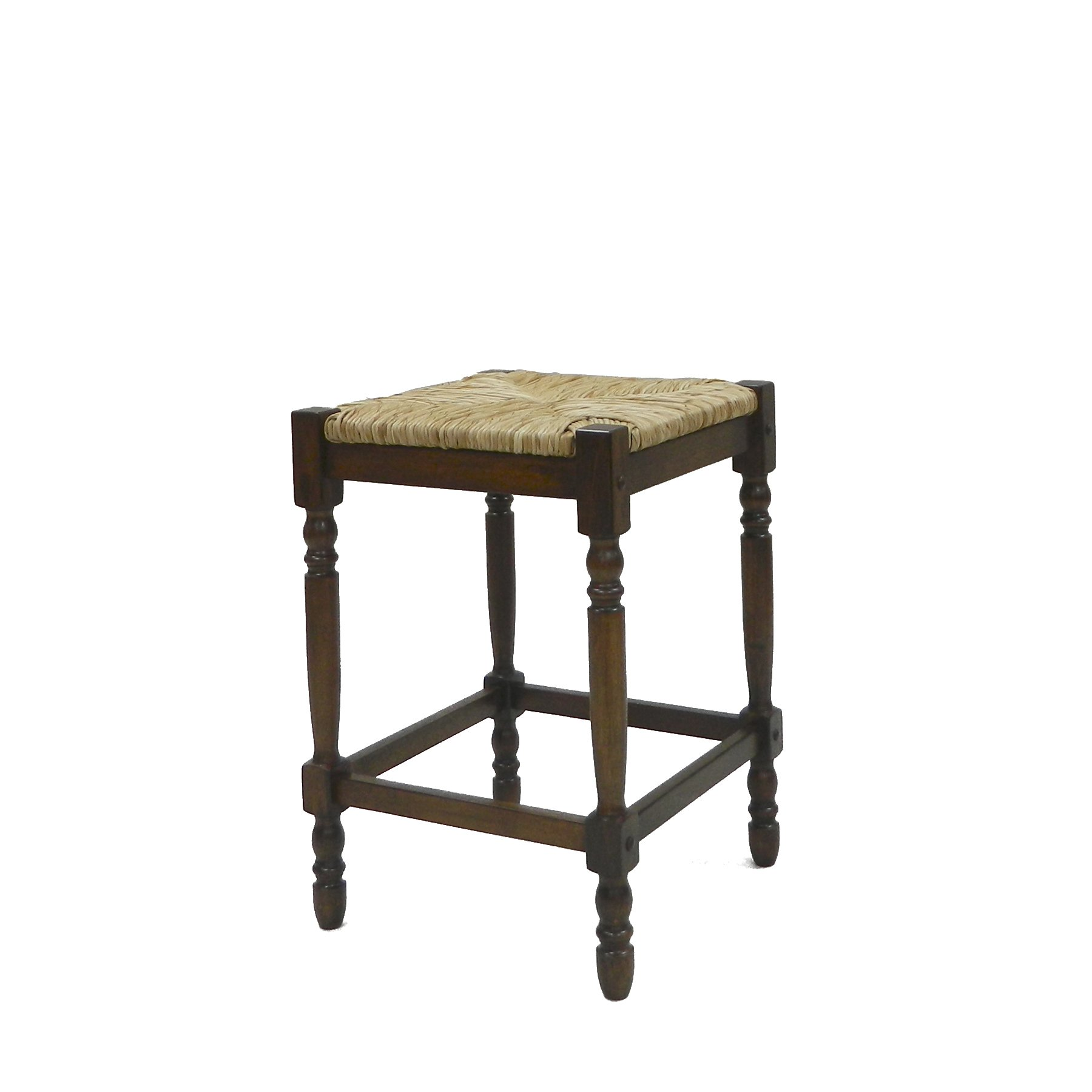 Carolina Chair and Table 24-Inch Chestnut Hawthorne Counter Stool
