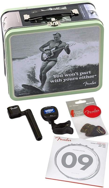 Fender - Fiambrera con caja de regalo y accesorios para guitarra ...
