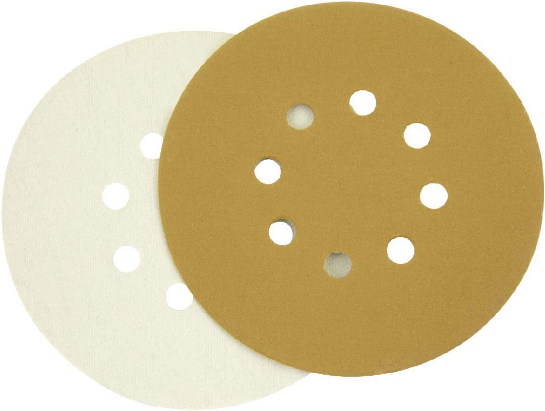 20 Yellow Sanding Sander Discs Pads 5-Inch 8-Hole Loop Aluminium Oxide Sandpaper
