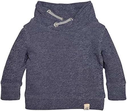 Burt's Bees Baby Boys' Organic Loose Pique Applique Sweatshirt
