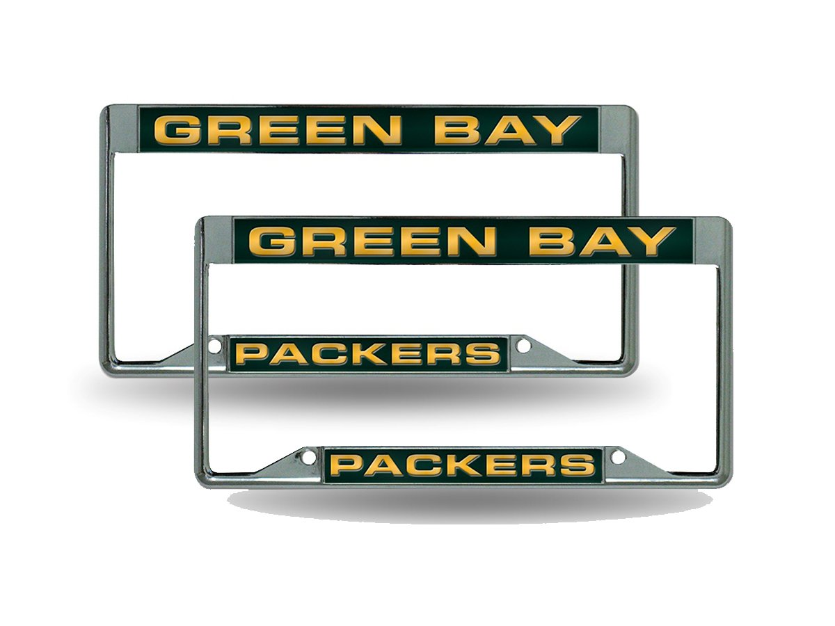 Green Bay Packers NFL chrom Metall (2) Laser Nummernschild Rahmen ...