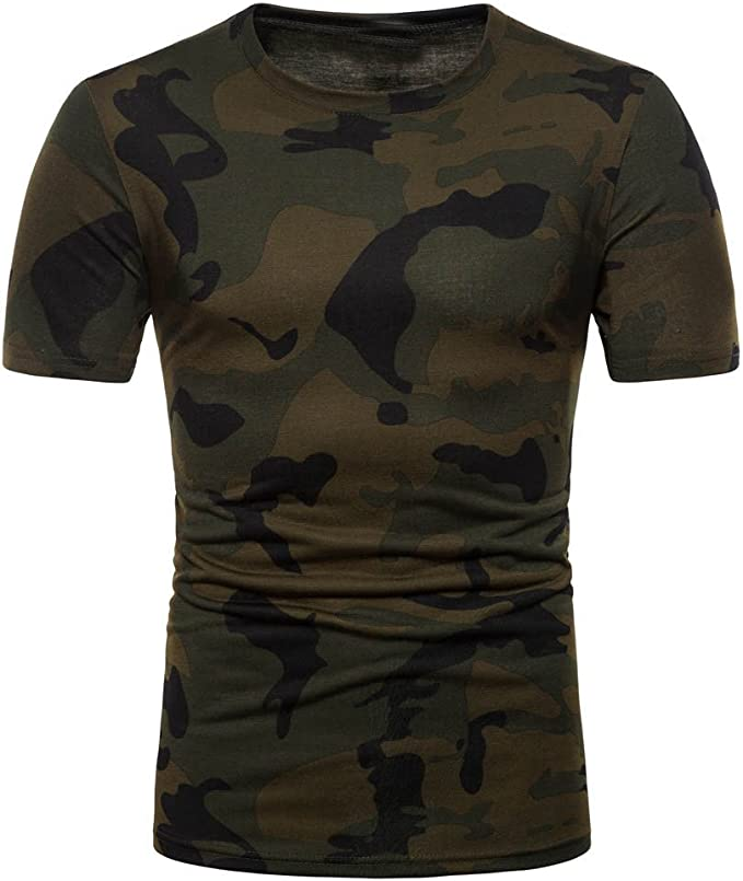 Hmlai Clearance Mens Casual Graphic Fashion Printed Short Sleeve Slim Fit Pullover T-Shirt Top Blouse