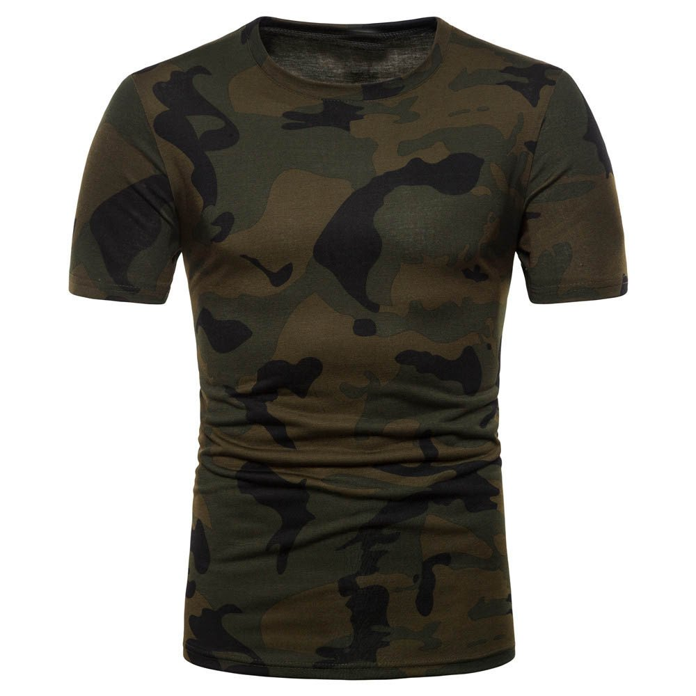 Hosamtel Men's Summer Camouflage Short Sleeve Tops Tees Shirt Father's Day Gift HT1669
