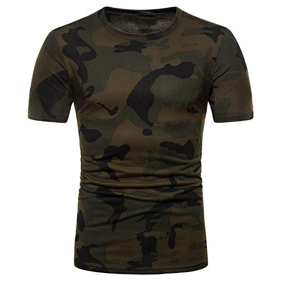 Camiseta de Camuflaje Hombre Militares Camisetas Deporte Ropa Deportiva Camisa de Manga Corta de Camuflaje Slim fit Casual para Hombres Tops Blusa ZODOF: ...