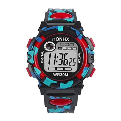 96cb1858c Kids Child Boy Girl Watches Multifunctional Waterproof Sports Electronic  Watches by Rakkiss (Red)