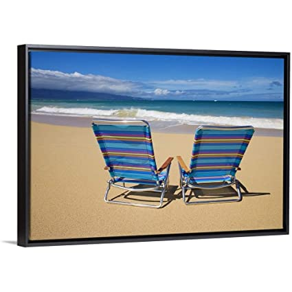 d9b4d6bafd Amazon.com: Floating Frame Premium Canvas with Black Frame Wall Art ...