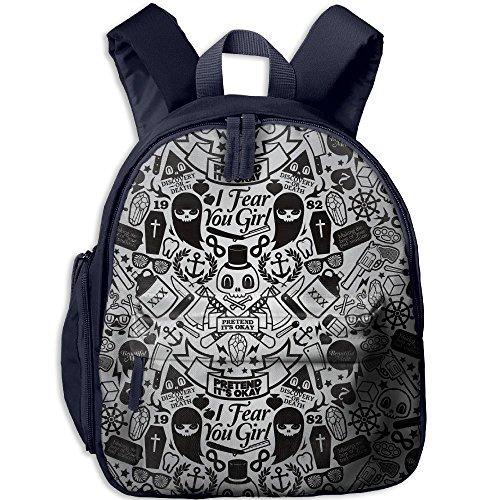 Children Pre School Backpack Boy&girl's Cartoon Halloween Decorations Skeletons Ghosts Book Bag -