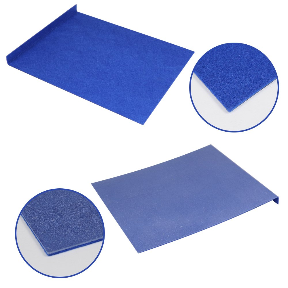 MMPP Dent Removal Tools Lexan Window Guard with Felt Paintless Dent Repair Window Protector Blue