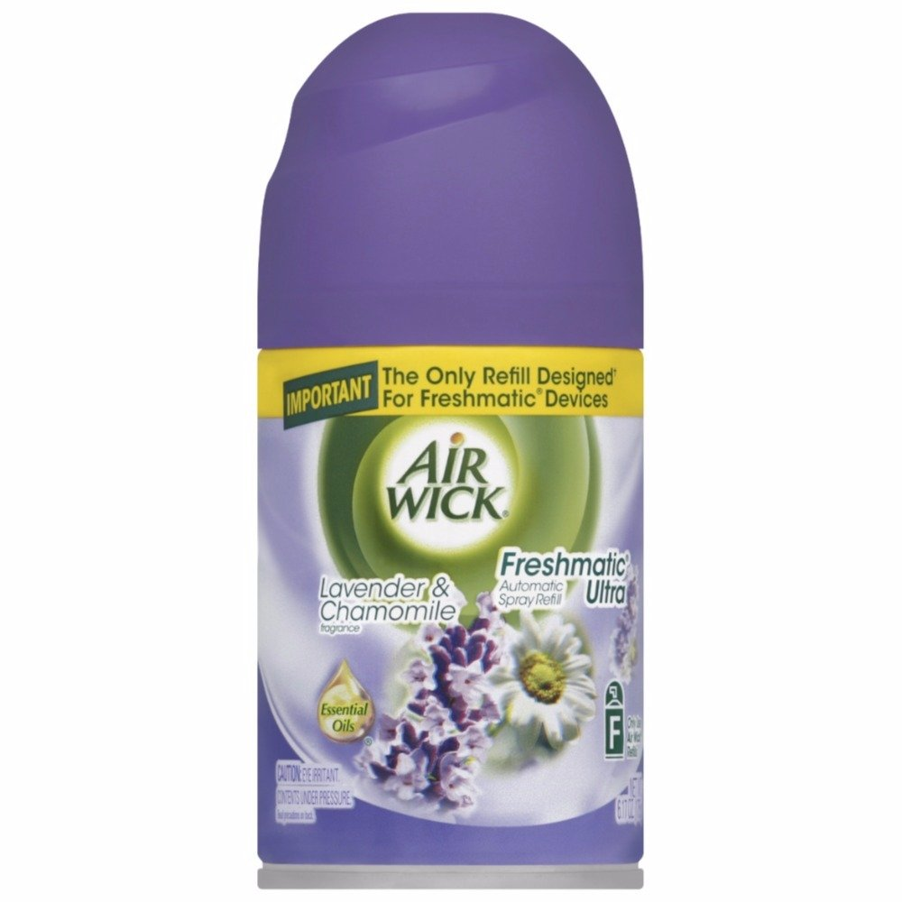 Air Wick Freshmatic Automatic Spray Air Freshener, Lavender and Chamomile Scent, 1 Refill, 6.17 Ounce (Pack of 18)