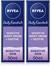 NIVEA Daily Essentials Sensitive Night Cream 50ml Pack of 2