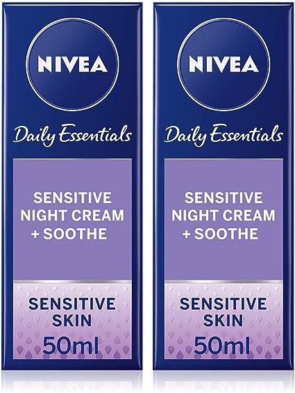 Nivea - Daily essentials, crema de noche, pack de 2 (2x50 ml): Amazon.es: Belleza