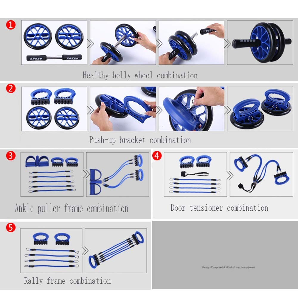 Byx- Fitness Equipment Home Multi-Functional Trainer Men and Women Sports Abdomen Calcined Chest Muscles Abdominal Abdomen Roller Rolling -Roller Wheel (Color : A) by Byx- (Image #9)