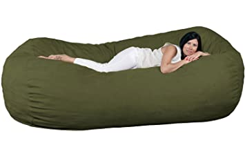 Fugu 8 Foot Bean Bag Chair, Olive