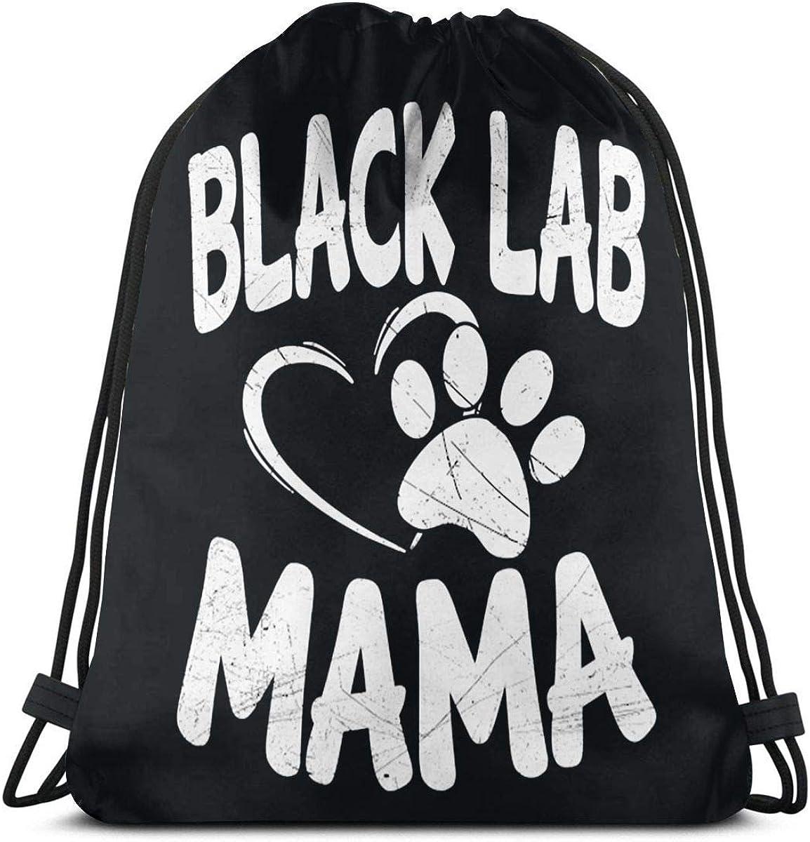 Black Lab Mama - Mochila con cordón