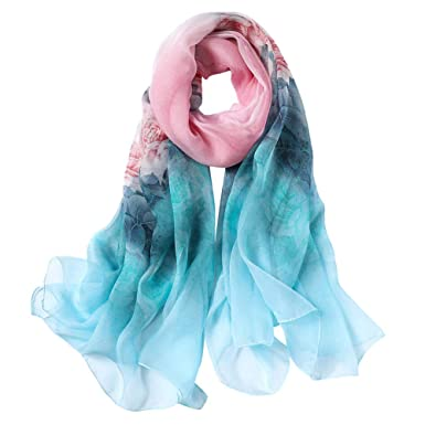 dc0ea87e127ef STORY OF SHANGHAI Womens 100% Mulberry Silk Head Scarf For Hair ...