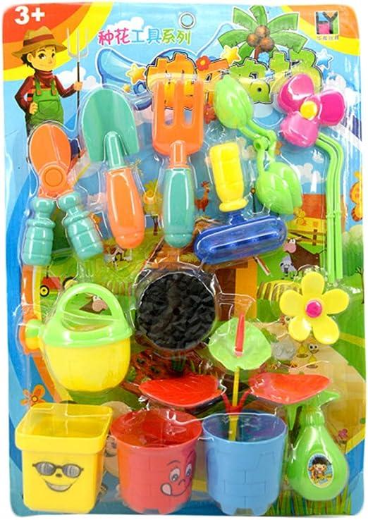 LAOSI 1 La plantación de Flores Conjunto de Herramientas de plástico de Juguete Nueva Cabaña para niños jardín Juego Set Juguetes para Chicos, Chicas: Amazon.es: Hogar