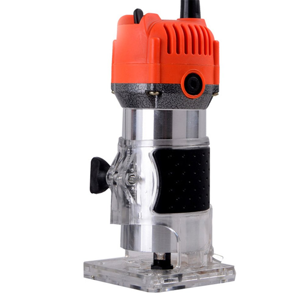 Bluedophin Router Trimmer 6.35mm Electric Woodworking Trimmer Aluminum Shell 800W Electric Trimmer Woodworking Router