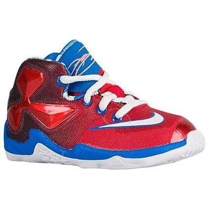 27de2f2d70ff Amazon.com  Nike Lebron XIII Toddler Boys Shoe Bright Crimson White Soar  Black  Everything Else