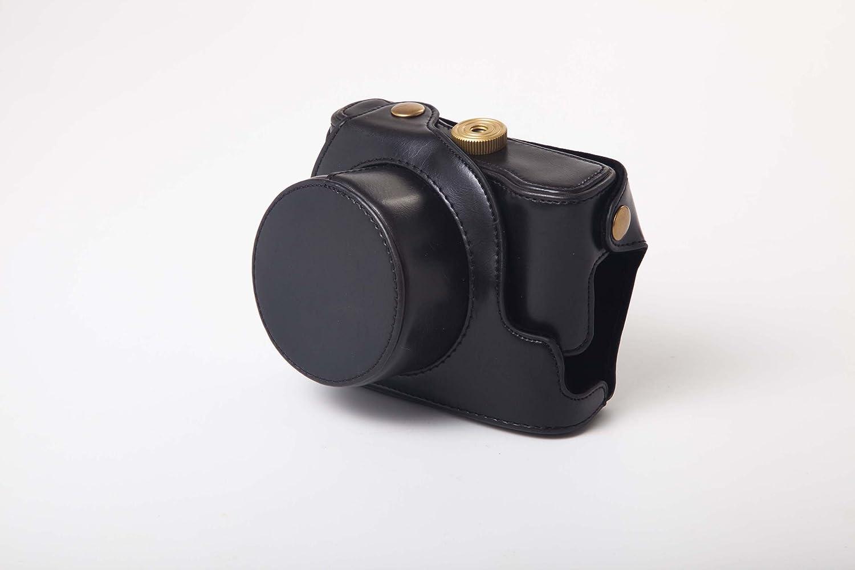 vhbw borsa in poliuretano marrone per fotocamera Canon PowerShot G1X Mark 2 G1X Mark II