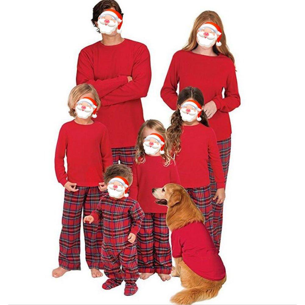 Juqilu Set di pigiama di corrispondenza familiare - Abbigliamento da notte per bambini della mamma papà