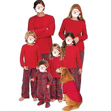 47b10b9ced Juleya Christmas Pajamas Sets Family Matching Sleepwear Nightwear Homewear  Outfit 2 Pieces for Father Mother Kids