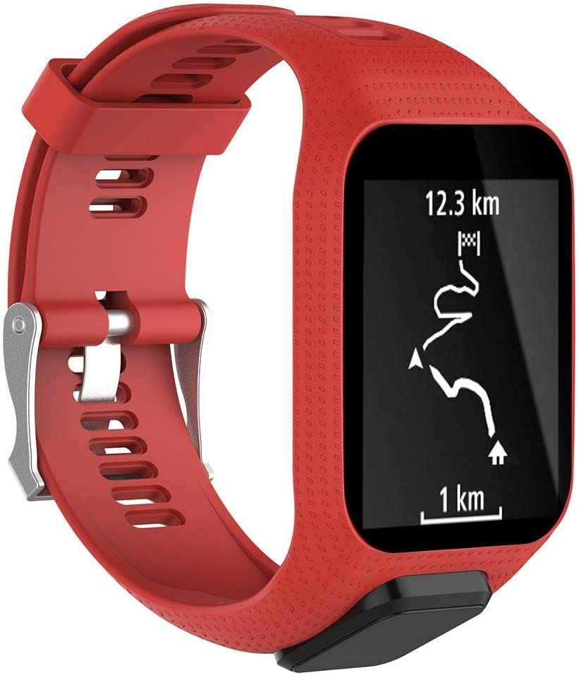 KOBWA - Correa de Repuesto para Reloj Tomtom Runner 2, Runner 3, Spark 3, Adventurer/Golfer 2 Sports GPS Running Smartwatch