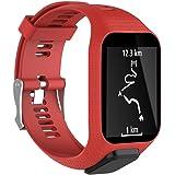 Kobwa cinturino di ricambio per orologio TomTom Runner 2/Runner 3/Spark 3/Adventurer/Golfer 2 Sports GPS Running, silicone