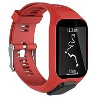 Kobwa Tomtom Bracelet de Montre, Bracelet de Sport de Sangle de Remplacement en Silicone pour Tomtom Runner 2/Chemin de 3/Spark 3/Aventurier/Golfeur 2Sports GPS de Course Smartwatch