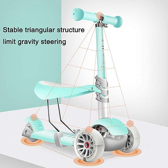 Patinetes clásicos Scooter Ajustable para niños con Asiento ...
