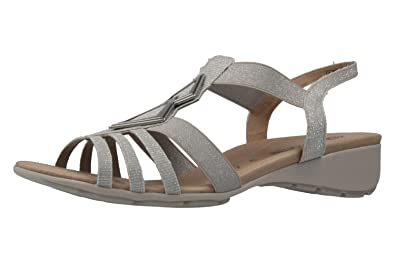 online store bc365 31d95 Remonte Sandalen in Übergrößen Silber R5275-90 große Damenschuhe
