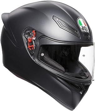 AGV Casco sólido K1 E2205 de color negro mate, talla mediana/pequeña