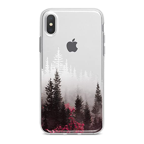 half off ca310 8841d Lex Altern iPhone Xs Max Xr 10 X 8 Plus 7 6s 6 SE 5s 5 TPU Apple Colorful  Trees White Flexible Soft Plants Red Nature Clear Phone Cover Print Girls  ...